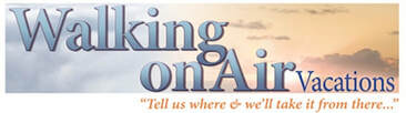 Walking On Air Vacations logo